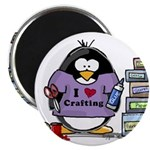 I love crafting penguin Magnet