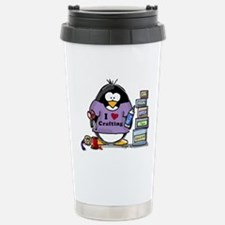 I love crafting penguin Travel Mug