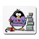 I love crafting penguin Mousepad