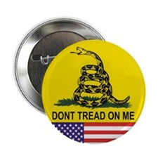 "Don't Tread On Me 2.25"" Button (100 pack)"