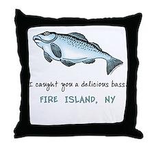 Delicious Bass Fire Island Throw Pillow