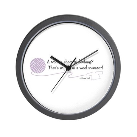 """""""Wolf in Sheep's Clothing"""" Wall Clock"""