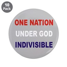 """One Nation 3.5"""" Button (10 pack)"""