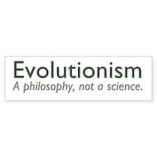 Evolutionism Car Sticker