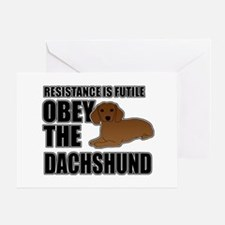 Obey The Dachshund Greeting Card