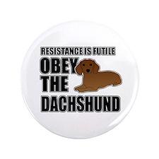 """Dachshund 3.5"""" Button"""