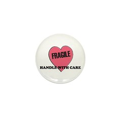 FRAGILE Handle with Care - He Mini Button (10 pack