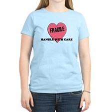 FRAGILE Handle with Care - He Women's Pink T-Shirt