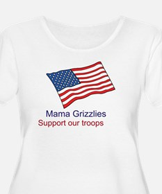 Mama Grizzlies Womens Plus Size Scoop Neck T-Shirt