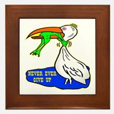 Never Ever Give Up Framed Tile