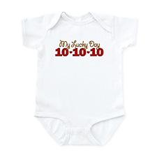 My Lucky Day 10-10-10 Infant Bodysuit
