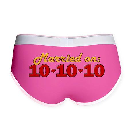 Married On 10/10/10 Women's Boy Brief
