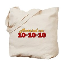 Married On 10/10/10 Tote Bag