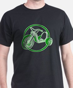 Green Tricycle Black T-Shirt