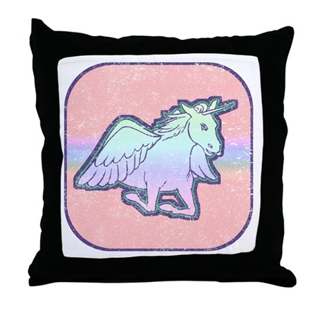 Distressed Unicorn Throw Pillow