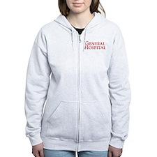 GH Red Stacked Women's Zip Hoodie