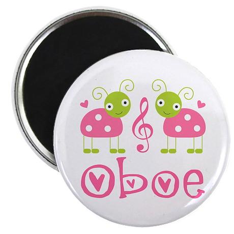 Ladybug Oboe Music Magnet