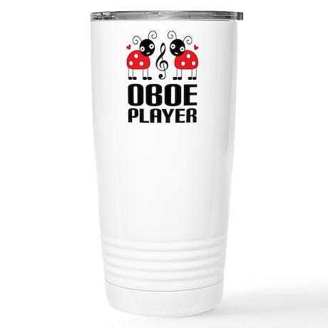 Ladybug Oboe Music Stainless Steel Travel Mug