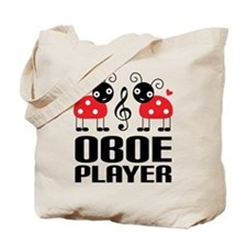 Ladybug Oboe Music Tote Bag