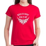 When In Doubt, Run It Out Women's Dark T-Shirt