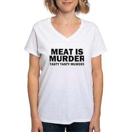 Tasty Tasty Murder Women's V-Neck T-Shirt