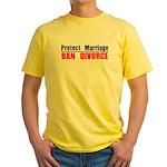 Protect Marriage | Ban Divorc Yellow T-Shirt