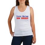 Protect Marriage | Ban Divorc Women's Tank Top