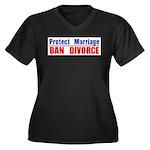 Protect Marriage | Ban Divorc Women's Plus Size V-