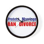 Protect Marriage | Ban Divorc Wall Clock