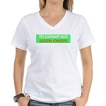 Stop Government Waste Women's V-Neck T-Shirt