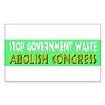 Stop Government Waste Sticker (Rectangle 10 pk)