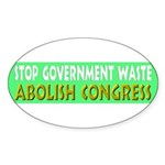 Stop Government Waste Sticker (Oval 50 pk)