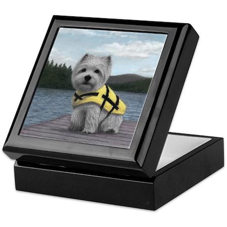 Truman at the Lake Keepsake Box