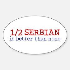 Half Serbian Sticker (Oval)