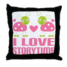 Ladybug Storytime Throw Pillow