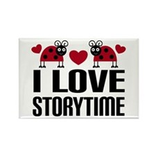 Ladybug Storytime Rectangle Magnet