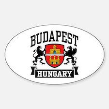 Budapest Hungary Sticker (Oval)