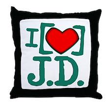 I Heart J.D. Throw Pillow