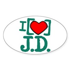 I Heart J.D. Decal