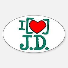 I Heart J.D. Decal