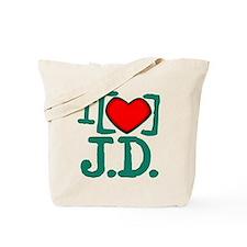 I Heart J.D. Tote Bag
