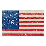 Bennington Flag Sticker (Rectangle 10 pk)