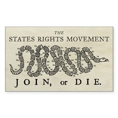 States Rights Join Or Die Decal