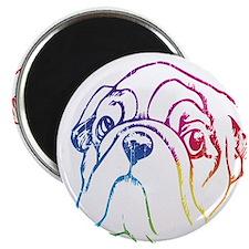 Rainbow Bulldog Magnet