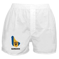 Map Of Barbados Boxer Shorts