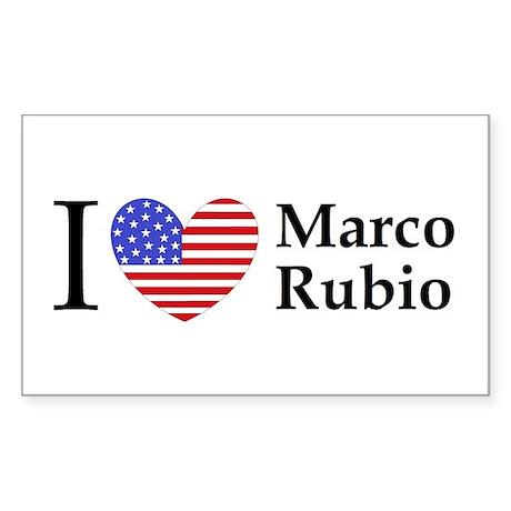 I Love Marco Rubio Sticker (Rectangle)