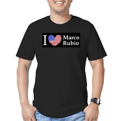 I Love Marco Rubio Men's Fitted T-Shirt (dark)