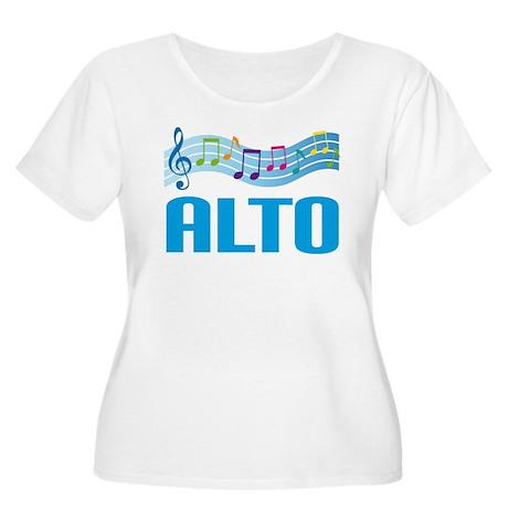 Colorful Music Alto Women's Plus Size Scoop Neck T