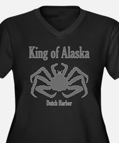 King of Alaska- Women's Plus Size V-Neck Dark T-Sh