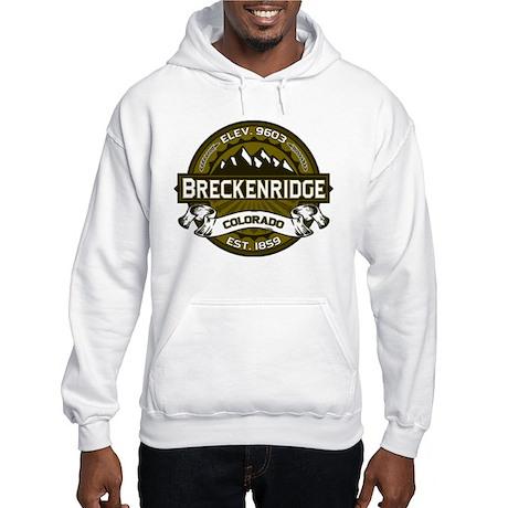Breckenridge Olive Hooded Sweatshirt